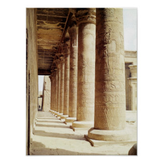 Columns in the Pronaos  of the Temple of Horus Poster