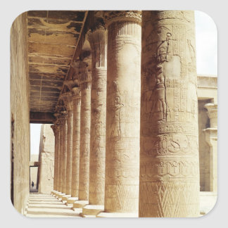 Columns in the Pronaos  of the Temple of Horus Square Sticker