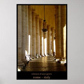 columns of saint peters poster