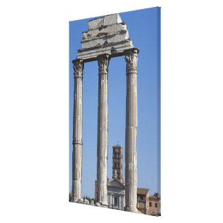 Columns of the Temple of Castor and Pollux with Canvas Print