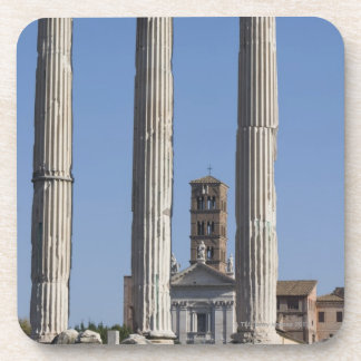 Columns of the Temple of Castor and Pollux with Coaster
