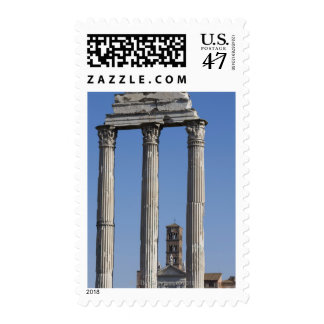 Columns of the Temple of Castor and Pollux with Stamp
