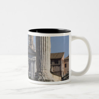 Columns of the Temple of Castor and Pollux with Two-Tone Coffee Mug