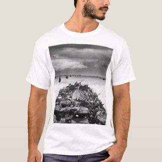 Columns of troop-packed LCIs trail_War Image T-Shirt