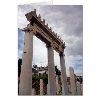 columns roman agora card