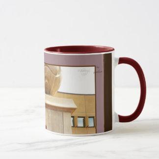 Column's Sphere and Red Railing 2 Coffee Tea Mug