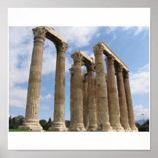 Columns Temple Zeus Posters