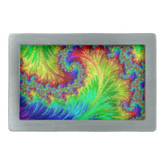 Coluorful pattern - abstract computer-generated im belt buckle
