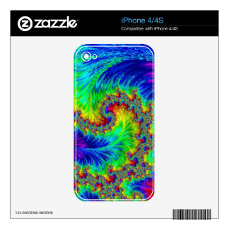 Coluorful pattern - abstract computer-generated im decals for the iPhone 4