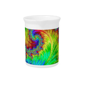 Coluorful pattern - abstract computer-generated im drink pitcher