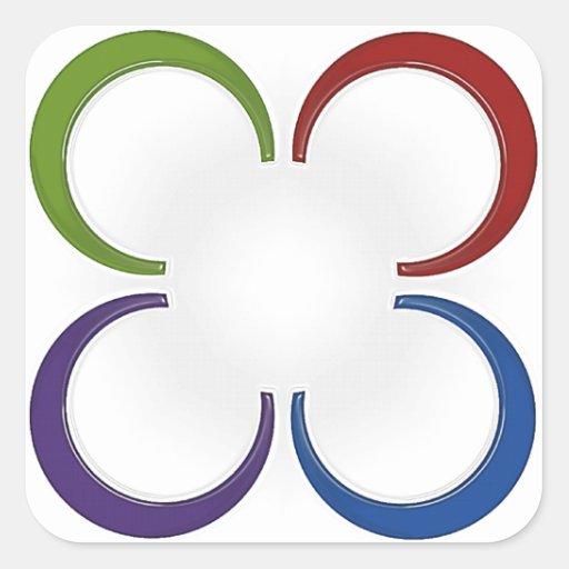 Colure Color Design CUSTOMIZE IT! Square Sticker