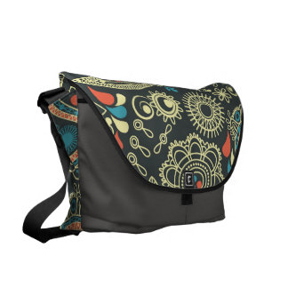 Colurful Vintage Paisley Messenger Bag