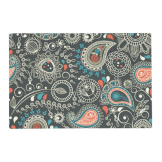 Colurful Vintage Paisley Placemat