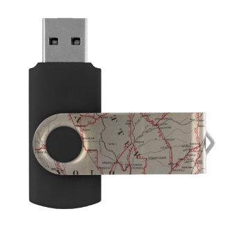 Colusa, Yolo, Napa, Butte, Yuba, Sutter, Solano Swivel USB 2.0 Flash Drive