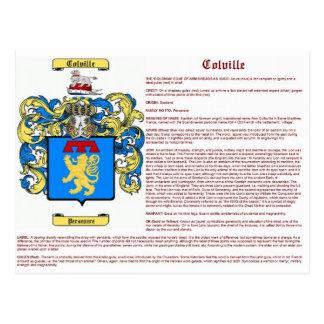 Colville (significado) tarjetas postales