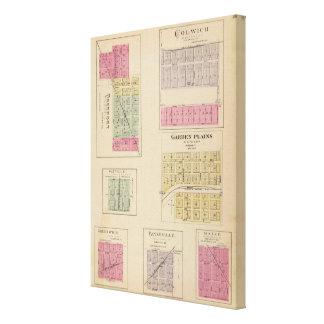 Colwich, llanos del jardín, y Bayneville, Kansas Impresión En Lienzo