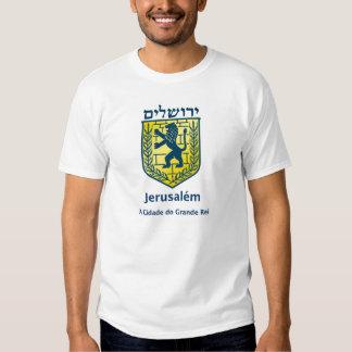 COM Brasão de Jerusalén de Camiseta hace Camisas