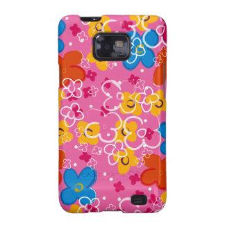 COM Flores del padrão Samsung Galaxy SII Funda