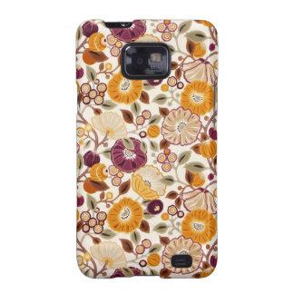 COM Flores del padrão Samsung Galaxy SII Carcasa