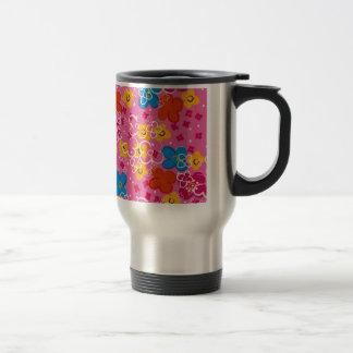 COM Flores del padrão Tazas De Café