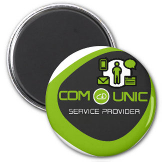 COM-unic.ca unified communication 2 Inch Round Magnet