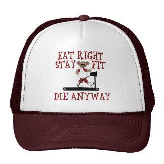 Coma a la derecha - el ajuste de la estancia gorras de camionero