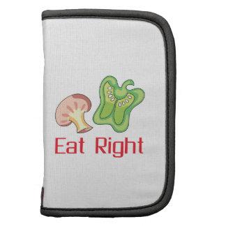 Coma a la derecha organizadores