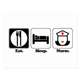 coma a la enfermera del sueño postal
