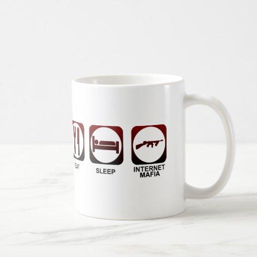 Coma a la mafia del sueño taza de café