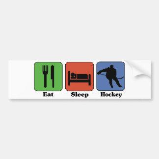 Coma a la pegatina para el parachoques del hockey  pegatina para auto