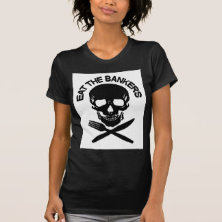 coma a los banqueros cráneo y huesos camisetas