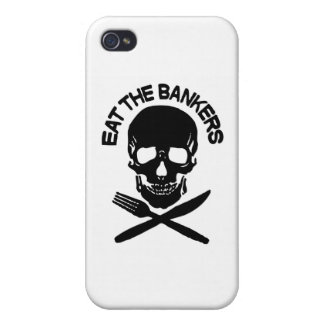 coma a los banqueros cráneo y huesos iPhone 4/4S carcasa