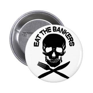 coma a los banqueros cráneo y huesos pin