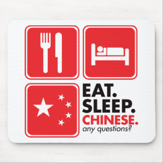 Coma a los chinos del sueño alfombrillas de ratones