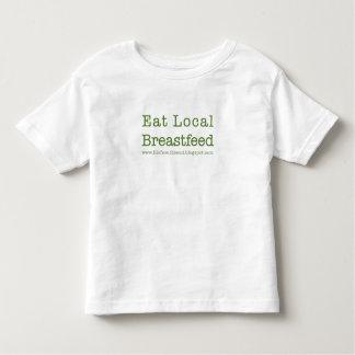 Coma a los niños locales camisetas