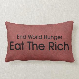 Coma a los ricos cojin