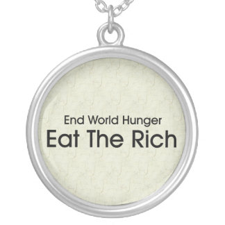 Coma a los ricos collar personalizado