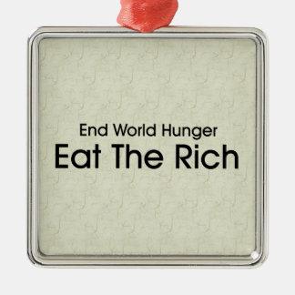 Coma a los ricos adornos