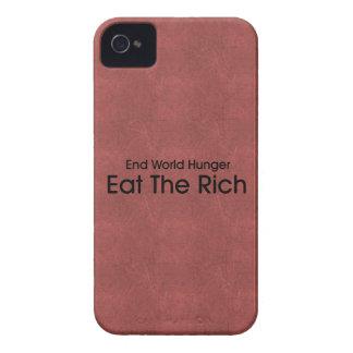 Coma a los ricos iPhone 4 Case-Mate cárcasa