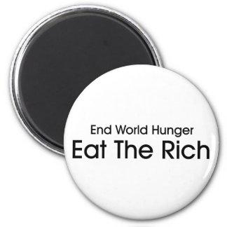 Coma a los ricos imán de nevera
