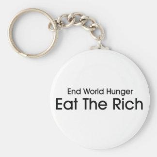 Coma a los ricos llavero