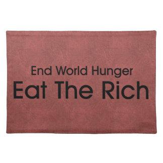 Coma a los ricos mantel individual