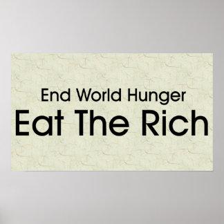 Coma a los ricos impresiones