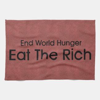 Coma a los ricos toalla de cocina