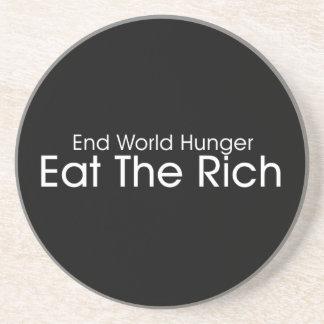 Coma a los ricos posavaso para bebida