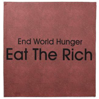Coma a los ricos servilleta
