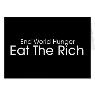 Coma a los ricos tarjeta