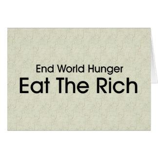Coma a los ricos tarjeton