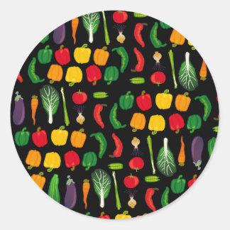 Coma a su pegatina de la Multi-Verdura de los Vegg
