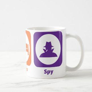 Coma al espía del sueño taza de café